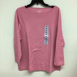 Ellen Tracy   Long Sleeve Shirt   Pink   Size 1X